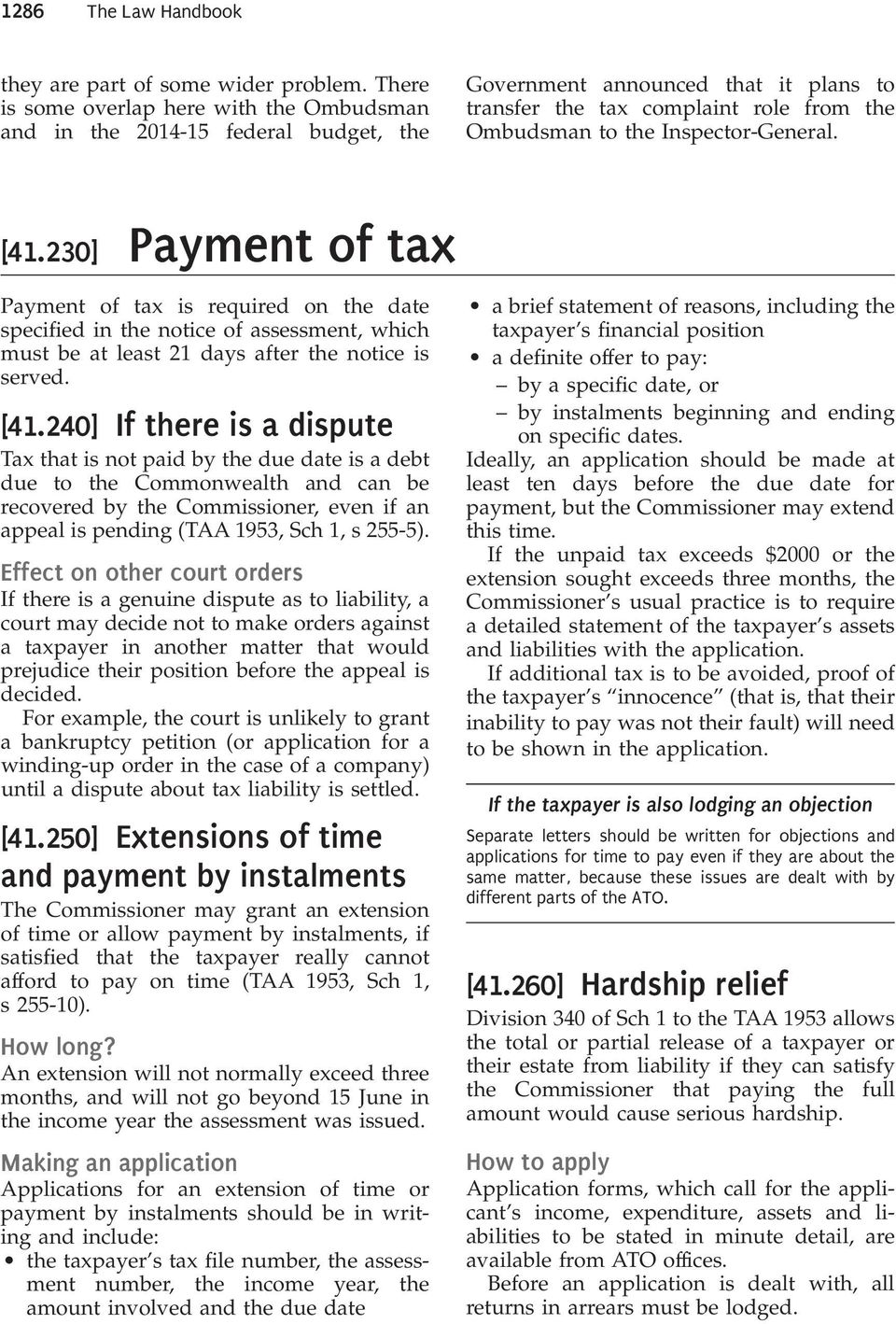 41230 payment of tax payment of tax is required on the date specified in