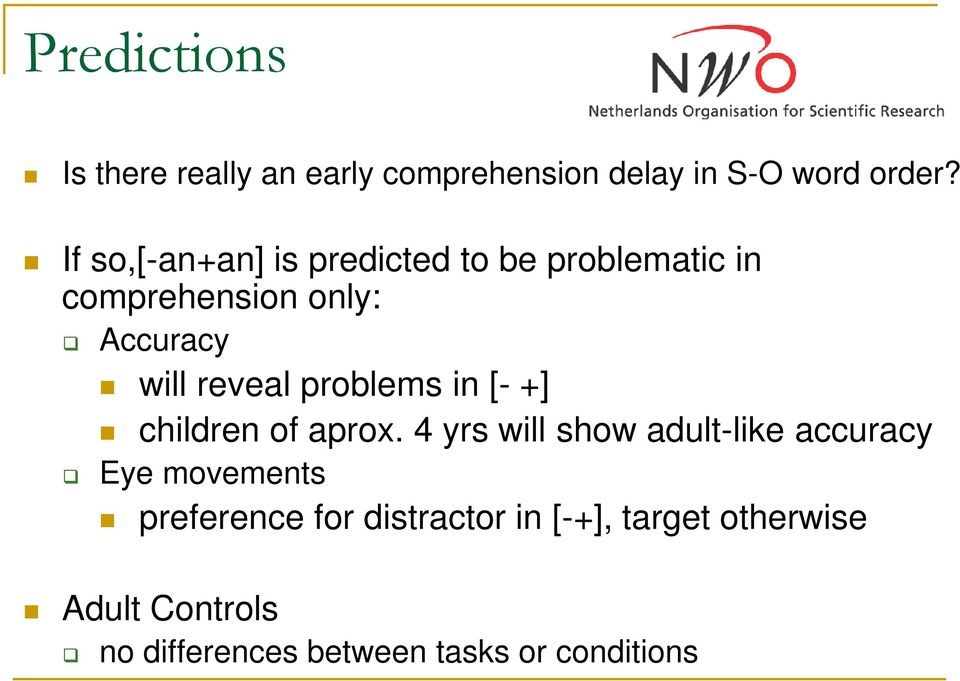 problems in [- +] children of aprox.