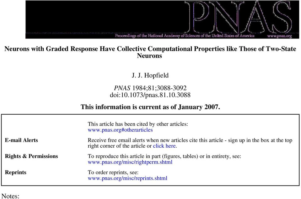 E-mail Alerts Rights & Permissions Reprints This article has been cited by other articles: www.pnas.