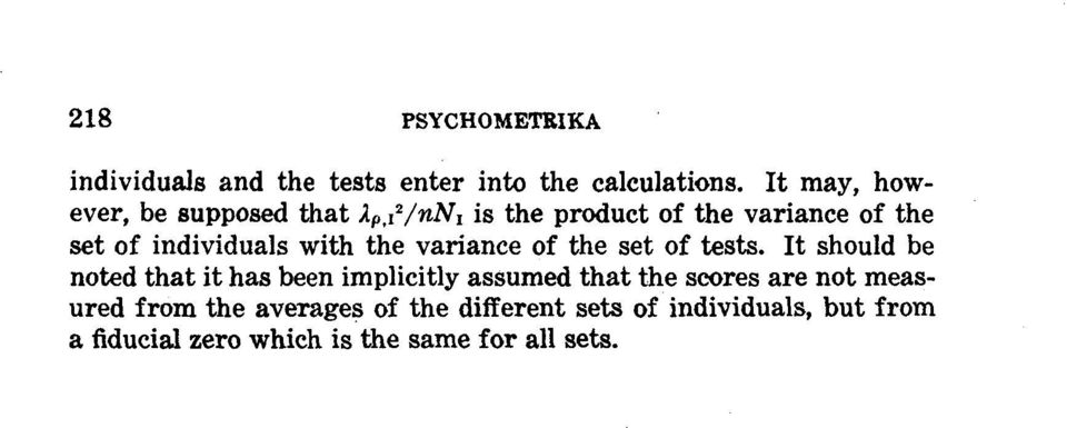 ~2/nn~ is the product of the variance of the set of individuals with the variance of the set of tests.