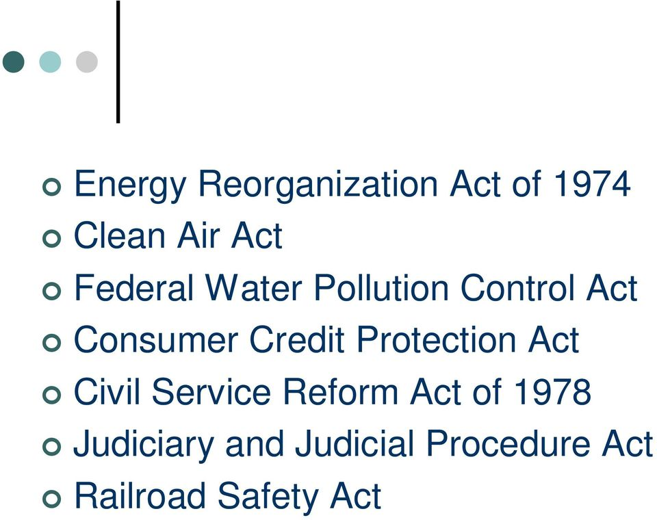 Credit Protection Act Civil Service Reform Act of