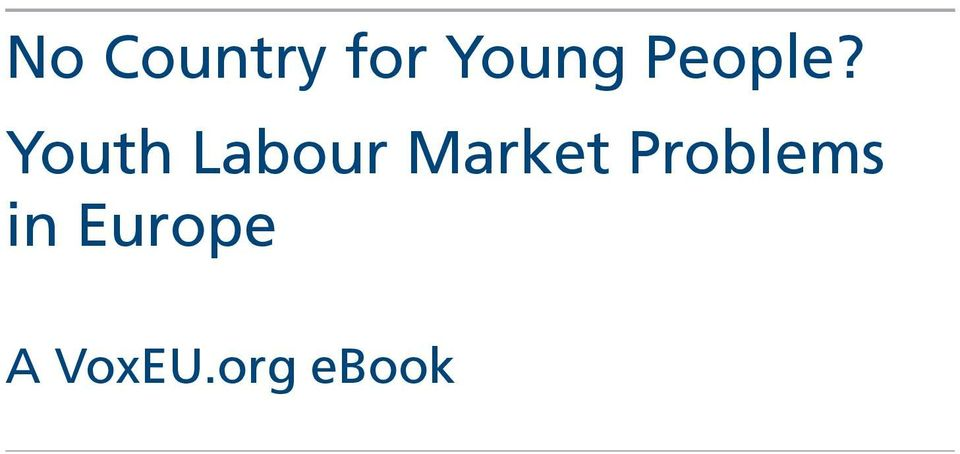 Youth Labour Market