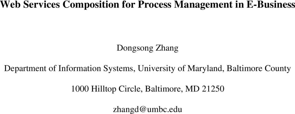 Systems, University of Maryland, Baltimore County