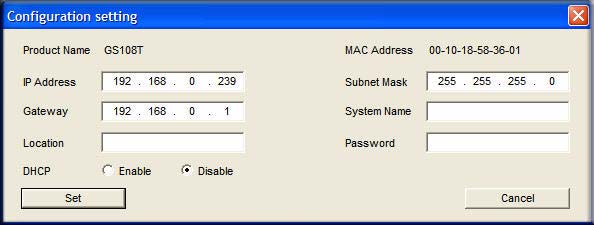 . GS108T Smart Switch Software Administration Manual Manually Assigning Network Settings If your network has no DHCP service, you must assign a static IP address to your switch.