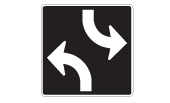13 A. Two way traffic ends B. Two way traffic ahead C. Two way traffic begins D. The lane is only for two-way left turns 14 15 16 A. Bump sign 150 meters B. Stop sign 150 meters C. Stop all times D.