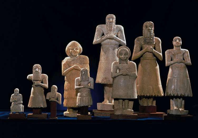 Statuettes from Abu Temple, Sumerian (modern