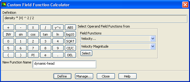 Figure 1.9: Outlet Temperature Profile for the Initial Solution 6. Define a custom field function for the dynamic head formula (ρ V 2 /2). Define Custom Field Functions... (a) Select Density.
