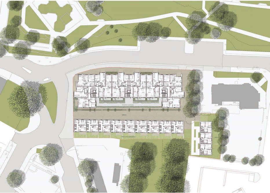 Site Layout Our proposals provide an active frontage along Erith High Street which will support and enhance the rejuvenation of the iconic Riverside Gardens.