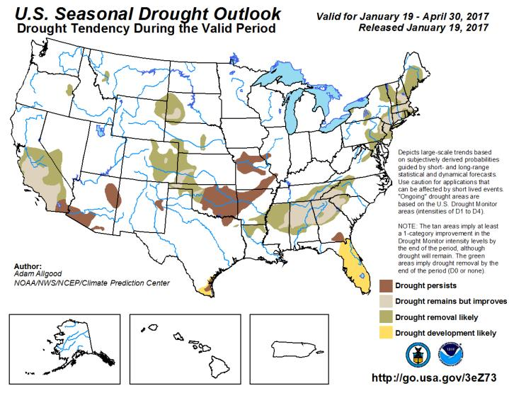 Drought Watch The most recent Drought Monitor brings some dramatic changes from the past few years.