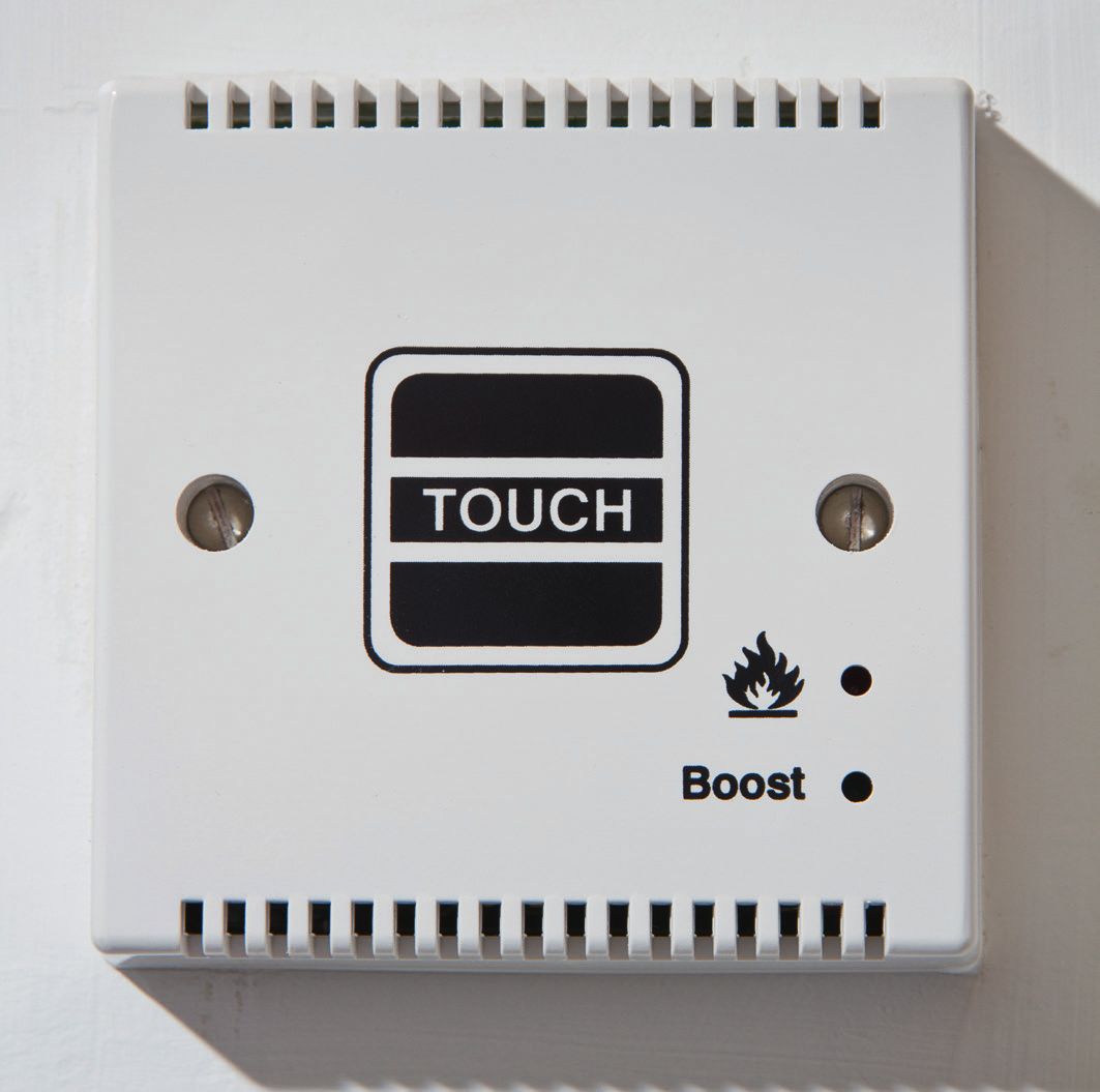 Radiator Boost Switch The Radiator Boost Switch is outside your bathroom and is used for your towel radiator in your bathroom.