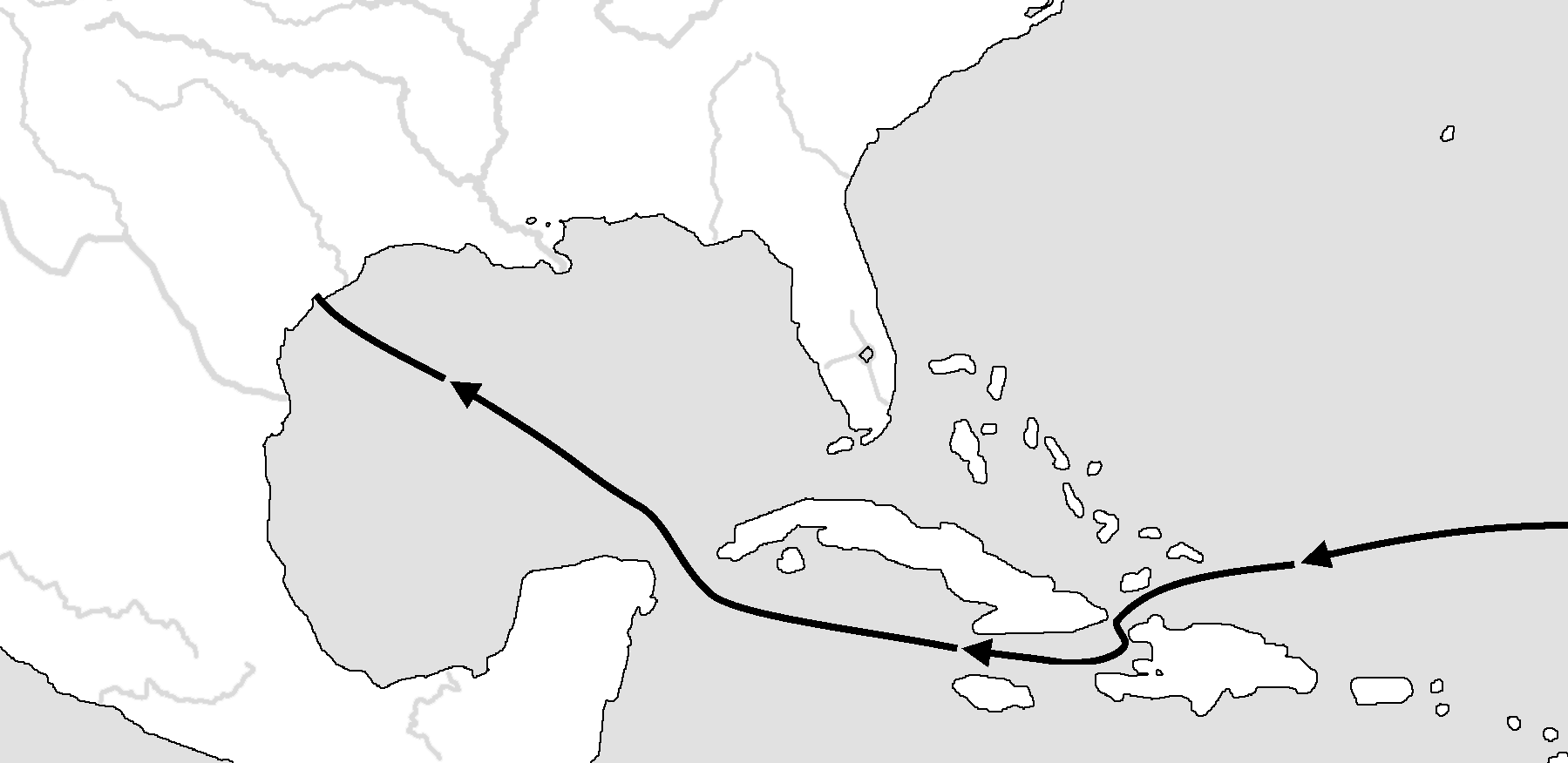 Fort St. Louis Gulf of Mexico ATLANTIC OCEAN Miles 0 500 La Salle s voyage of 1684. FINAL VOYAGE: La Salle returned to the New World as head of a huge expedition.