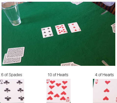 Fig. 9. Blurry cards, both correctly and incorrectly detected. Fig. 11. A face card, classified as a non-face card. of the card was too small to be a face card.