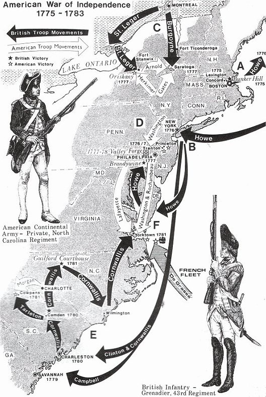 Washington chosen to lead American troops (2nd) Continental Congress is organised to fight British (1775) Washington chosen to lead American