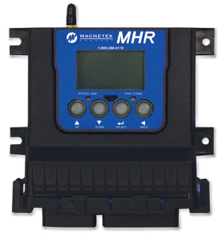 The new model MHR receiver Model MHR mobile hydraulic radio receiver Unique features: - Graphic display and four pushbutton keypad for diagnostics and system set up.