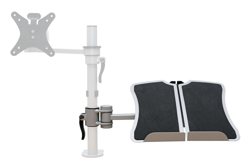 Features Laptop holder will hold up to 6kg Tray features a non-slip surface with adjustable platforms for wider laptops 360 o rotation around the Vision pole arm 330mm height