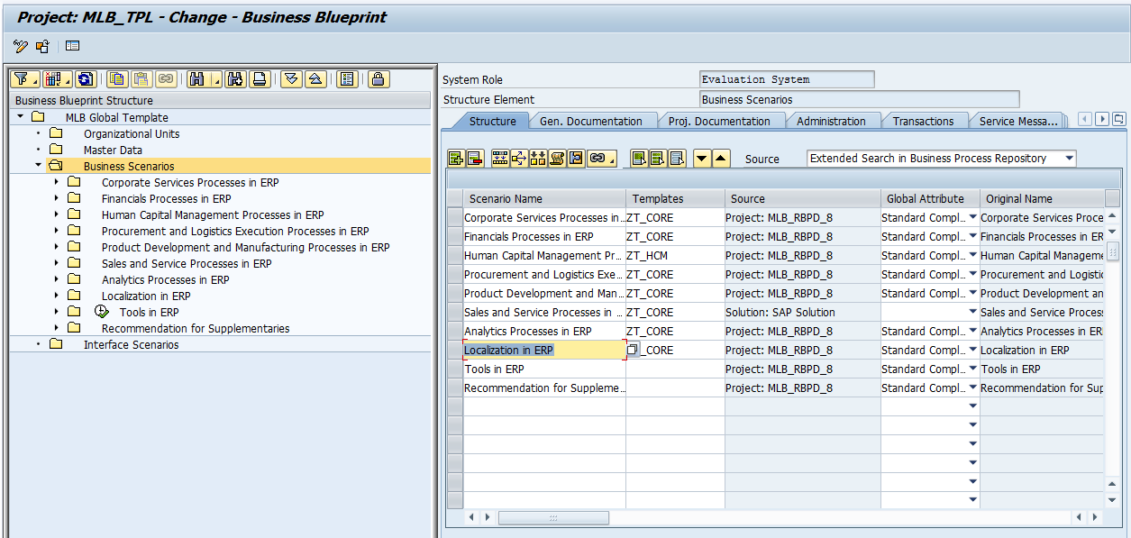 How to utilize templates and functionality available in sap solution assigning templates to scenarios access the business blueprint structure of the malvernweather Image collections