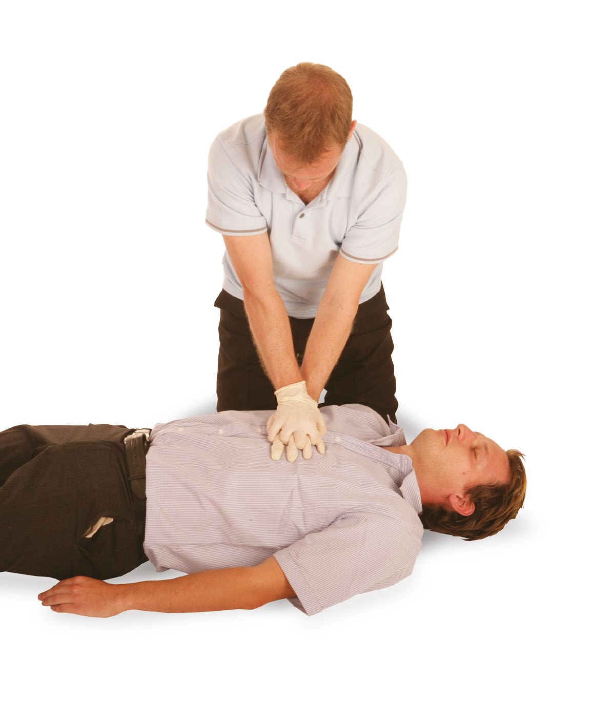Cardiopulmonary resuscitation (CPR) Cardiopulmonary resuscitation (CPR) should be administered to a casualty who is not breathing normally (and no signs of life).