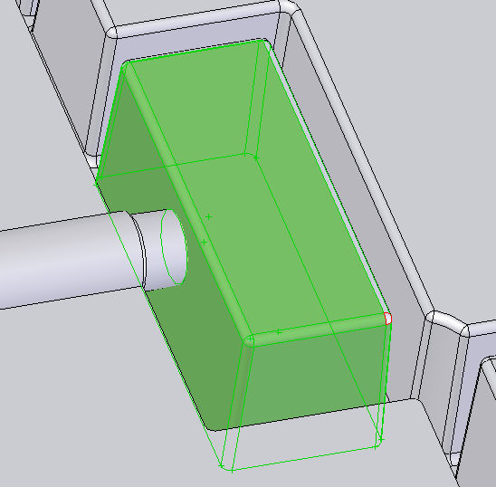SolidWorks has a special tool for the core extraction purpose. The tool is Core and it is located within the mould tools.