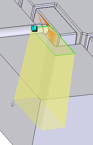 Split the core with surfaces 1. Prepare offset surfaces from the outer surfaces of the feature you wish to extract as a separate fixed core.