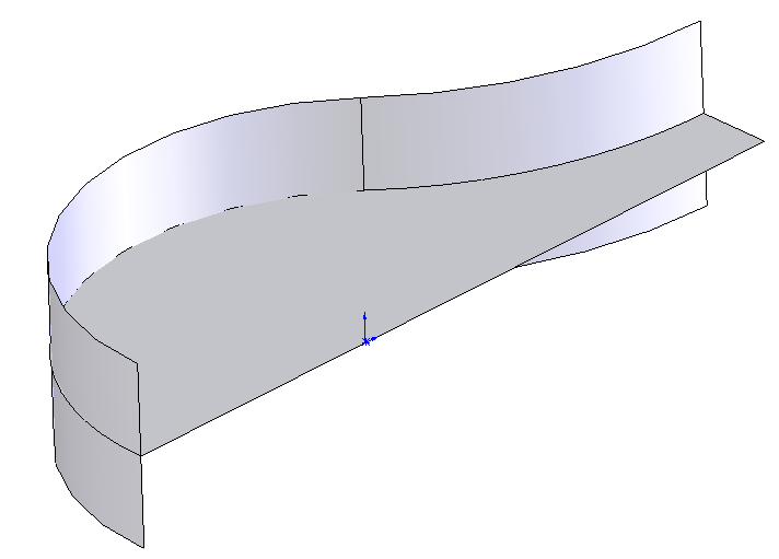 The tool requires two surfaces, a surface and a plane or a surface and a