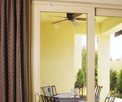 VINYL SLIDING PATIO DOORS Available in Standard (2 1/2 wide rails) and French-style (4 1/2 wide rails), Bay View