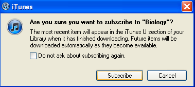 The episode will begin downloading to your itunes library, as indicated by the itunes download progress bar. To subscribe to a podcast, click the podcast s Subscribe Free button.