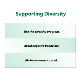 4003 Supporting Diversity Your organization s diversity program provides a strong basis for an organizational culture that values and promotes diversity. IMAGE: 4003.
