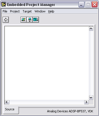Figure 5. LabVIEW Embedded Project Manager Window 2.