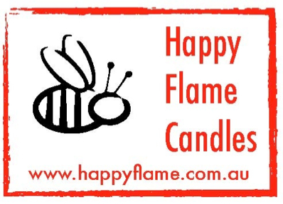 Produced by Happy Flame Candles.