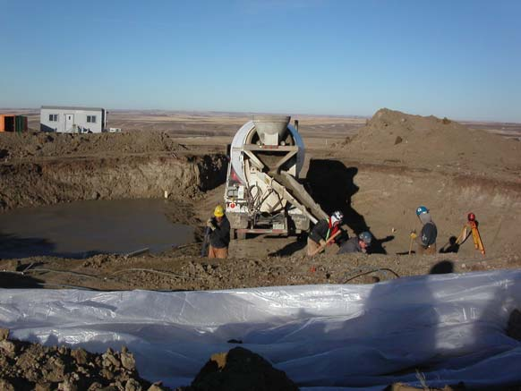 Centennial Wind Power Facility CONSTRUCTION METHODOLOGY -Excavate hole with track hoe. -Place mud slab on unfrozen ground.