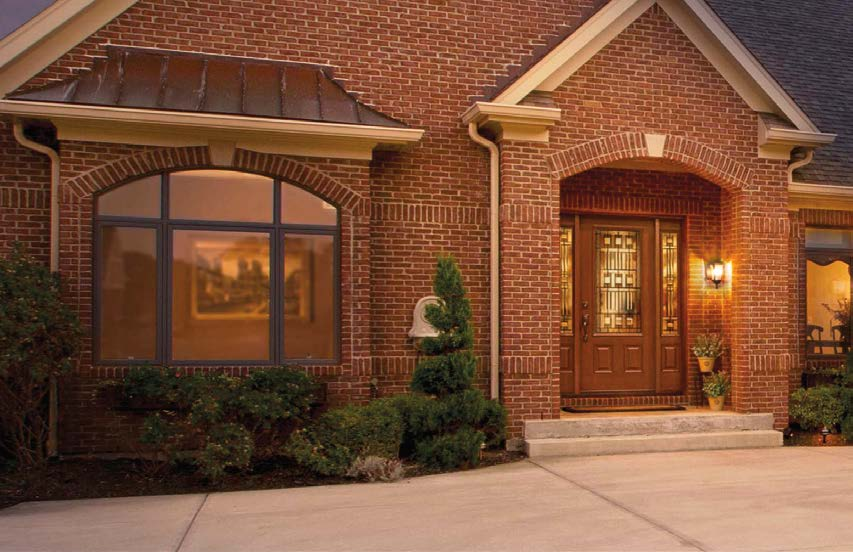 COLORS Exterior steel on standard color doors has a natural woodgrain texture.