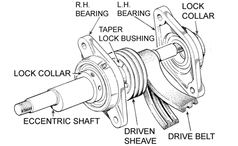 Insert a Bearing Cone into the Inner Bearing Cup in the Connecting Rod. Carefully fit the Shaft Seal into the Connecting Rod. Insert a Bearing Cone into the outer Bearing Cup in the Connecting Rod.