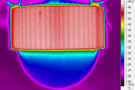 IR images of the LED lamp 14.