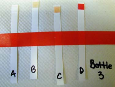 Each tube represents one sample port from top (A) to bottom (D).