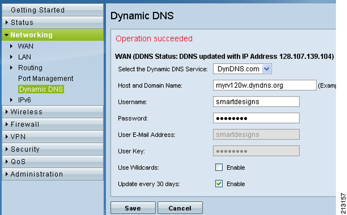 Figure 4 DDNS Setting Page Figure 5 Custom Services Screen For the DDNS settings to take effect immediately, the router must have an active Internet connection. You can also log into dyndns.