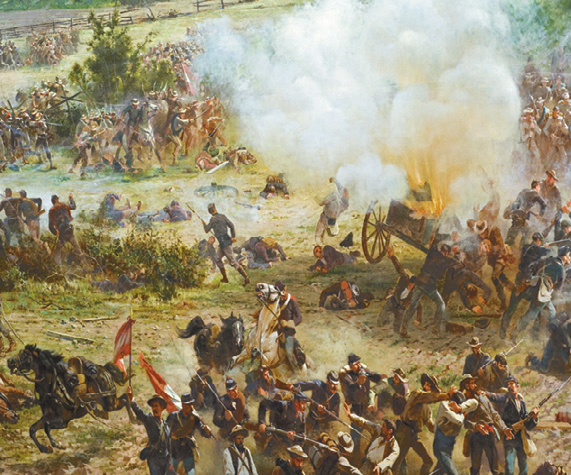 6-4 (09); release dates: February 7-13 The Battle and the Address The Battle of Gettysburg lasted for three days: July 1, 2 and 3 of 1863. Gettysburg, Pa.