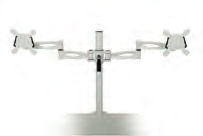 Accessories Monitor Arms & CPU Holders Single Monitor Arms DSMARM-S Single Arm Silver DSMARM-WH