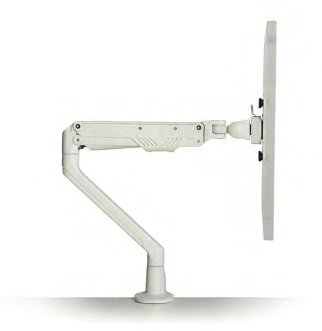 Adjustable Monitor Arm for twin screen with quick release   plate Screen weight capacity 2 x 10kg Gas