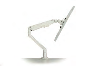 Monitor Arm, available in silver & white.