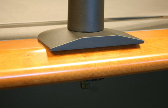 The bullnose edge is preserved all the way around the desk.
