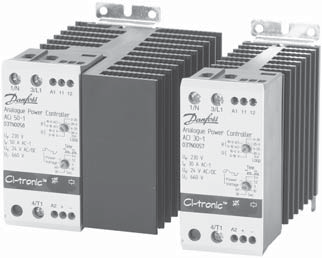 Data sheet CI-tronic Analogue Power Controller Type ACI 30-1 and ACI 50-1 Features Phase angle or burst firing control mode Current loop control, 4-20 ma, 20-4 ma, 0-20 ma and 20-0 ma Voltage