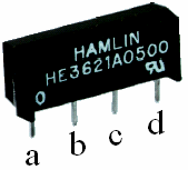 Figure 3: Picture of Pin Assignments for the Relays Table 1: Wiring of H-Bridge Relay Motor Red V in (5V) to Relay 1 (pin d) V in (5V) to Relay 2 (pin d) Relay 1 (pin a) to motor (left terminal)
