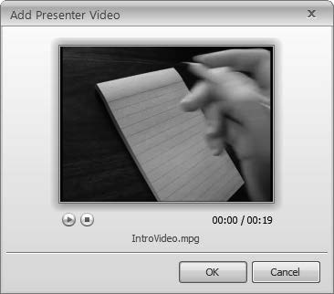 30 E-Learning Uncovered: Articulate Studio 13 Add a Video to the Presenter Panel Rather than putting a video on the