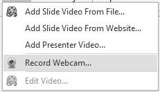 Advanced: This link gives you access to any webcam management software that you might have on your system.