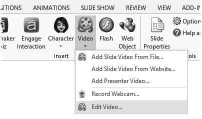 To fast-forward through the video, drag the red playhead indicator along the timeline.