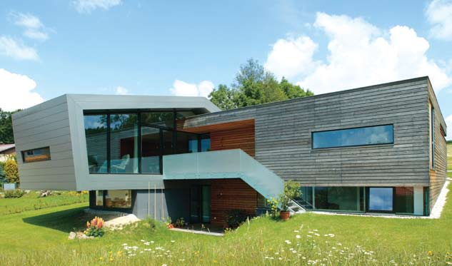 Realisation The architect s options when building a house with passive heating are limitless.