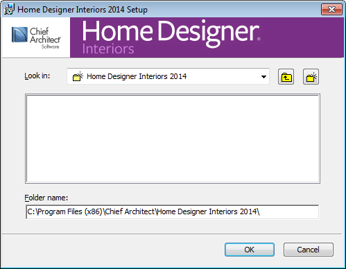 Home Designer Interiors 2014 Reference Manual Choose Destination Location 4. This window appears only if you click the Advanced button, and then the Change button, in the previous windows.