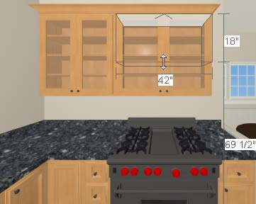 Home Designer Interiors 2014 User s Guide To edit the cabinets in a 3D view 1.