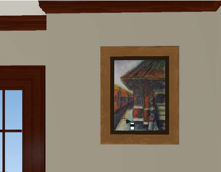 Home Designer Interiors 2014 User s Guide 4. Move your cursor over the middle area of the frame and click to apply the selected artwork.