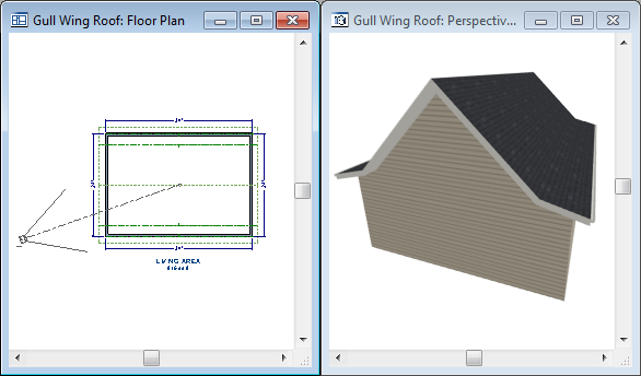 "Half Hip Roofs Specify the lower Pitch as 3 in 12. Place a check in the box beside Upper Pitch. Keep the Upper Pitch as 12 in 12 and change the Start Height to 125"". 4."